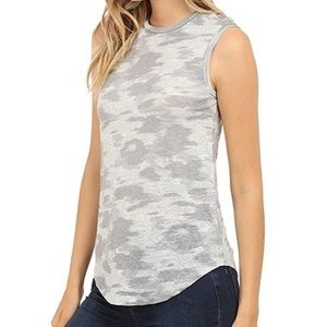Adriano Goldschmied Camo Ashton Muscle Tank Top